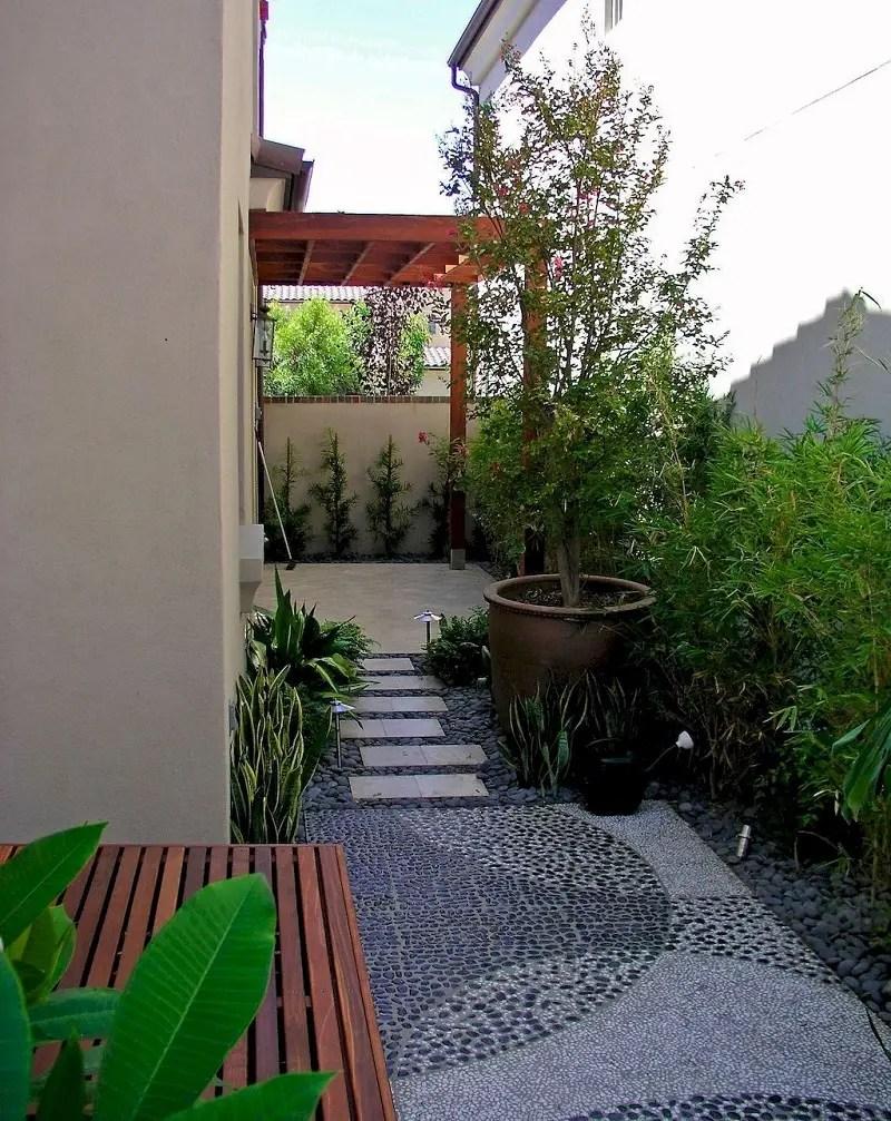 Modern look side yard