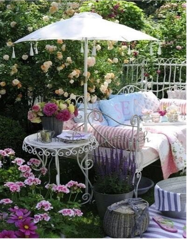 Adorable Shabby Chic Garden Decoration Ideas Matchness Com