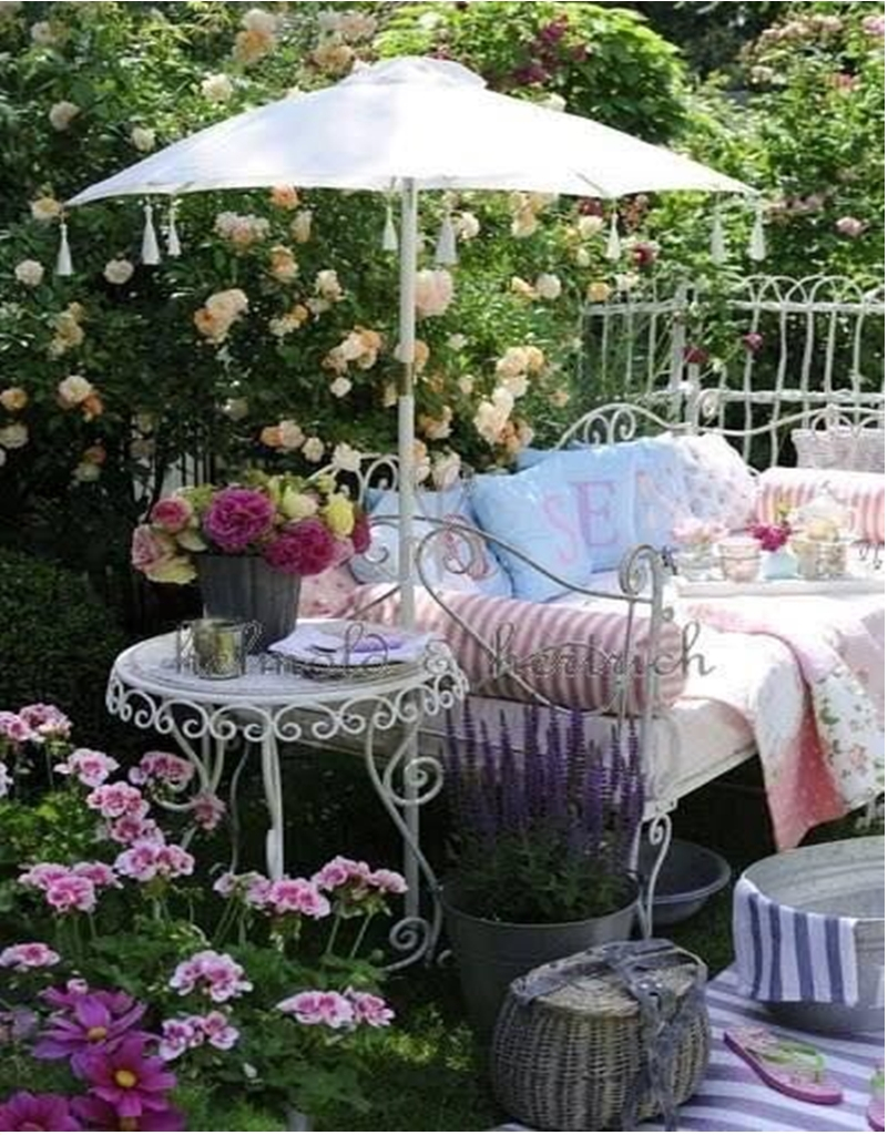 Shabby chic garden 5