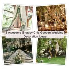 Shabby chic garden wedding decoration ideas
