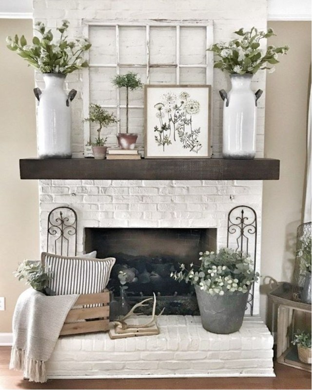 Spring mantel ideas 5
