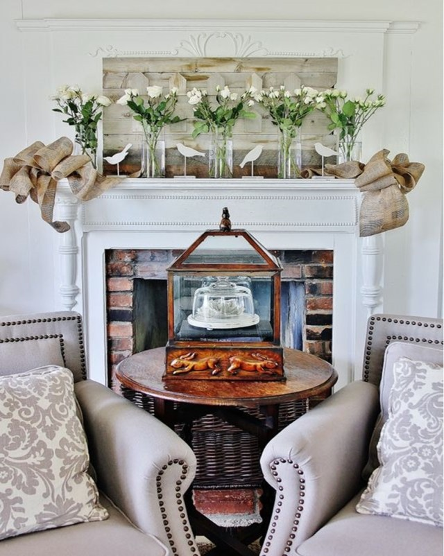 Spring mantel ideas 8