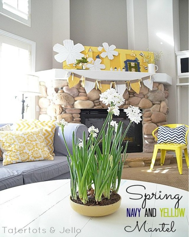 Spring mantel ideas 9