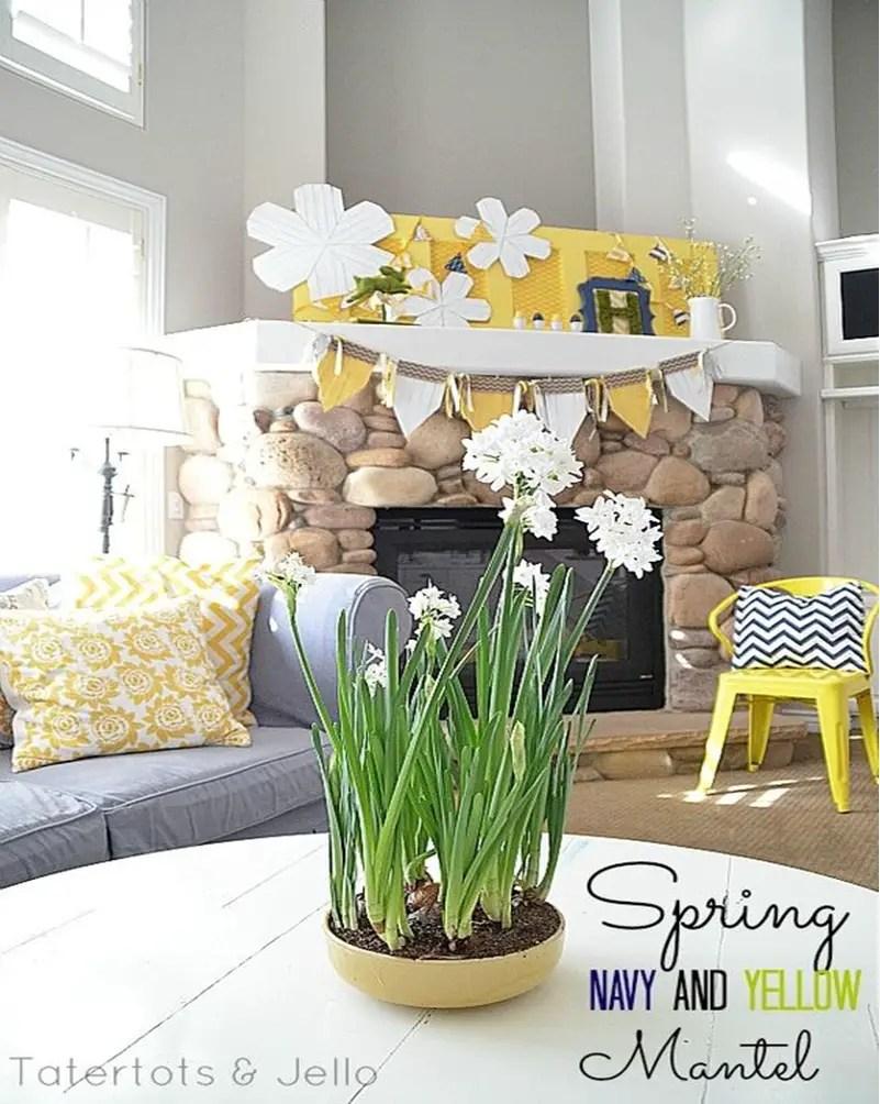 Spring mantel ideas 9