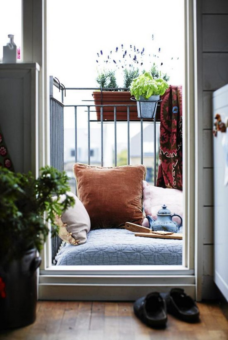 1. a cozy balcony