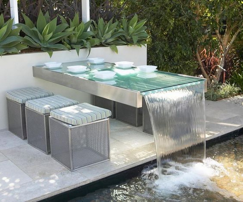 1. outdoor dinning table