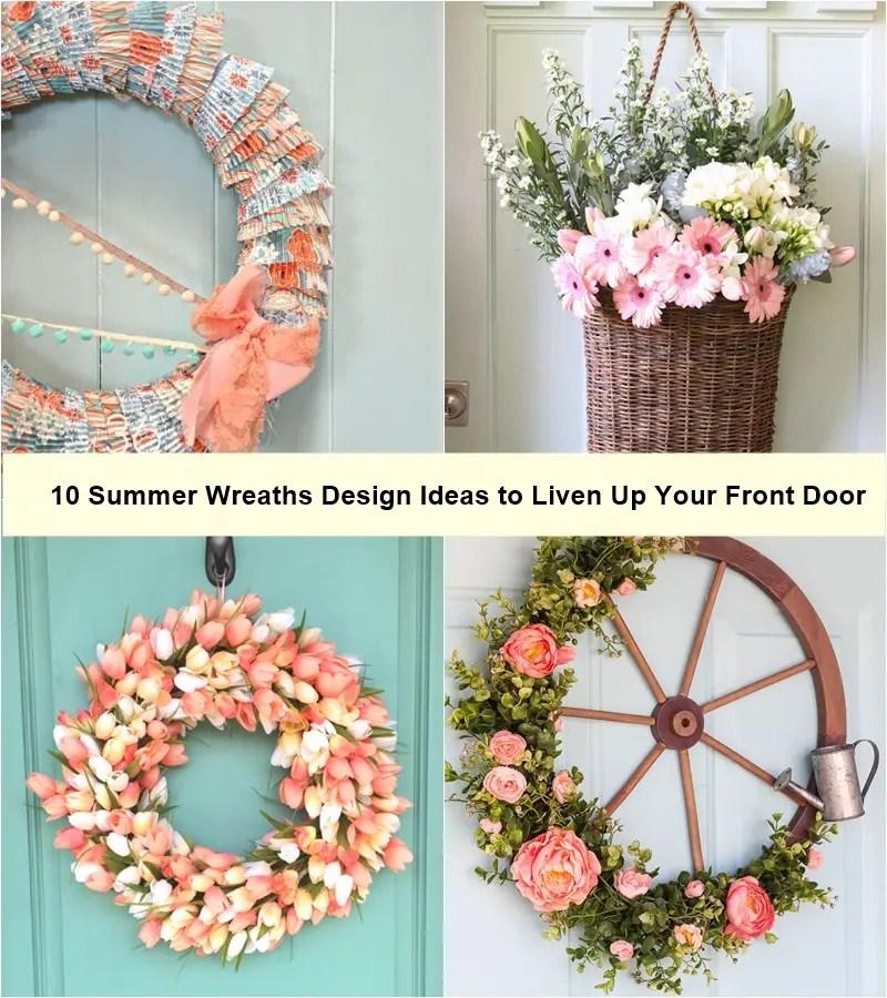 10 summer wreaths design ideas to liven up your front door