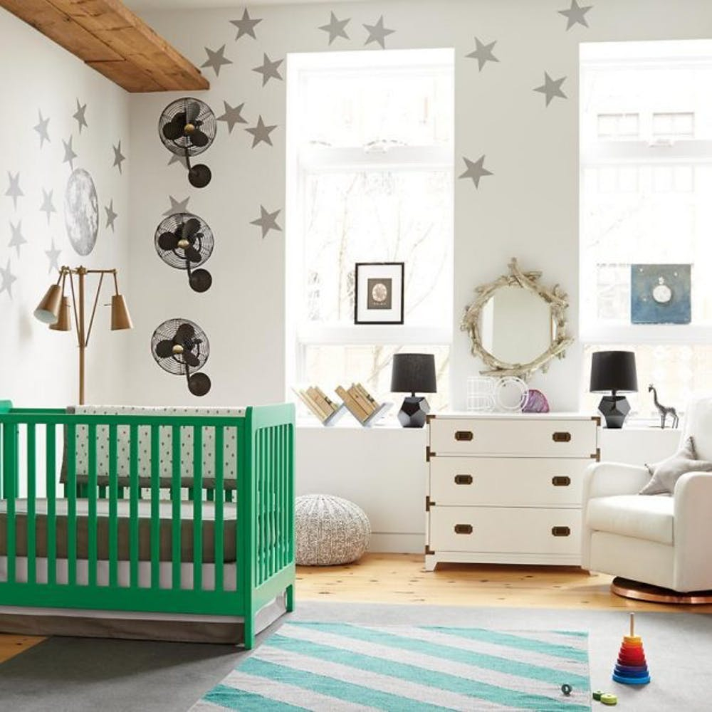 A cheery crib