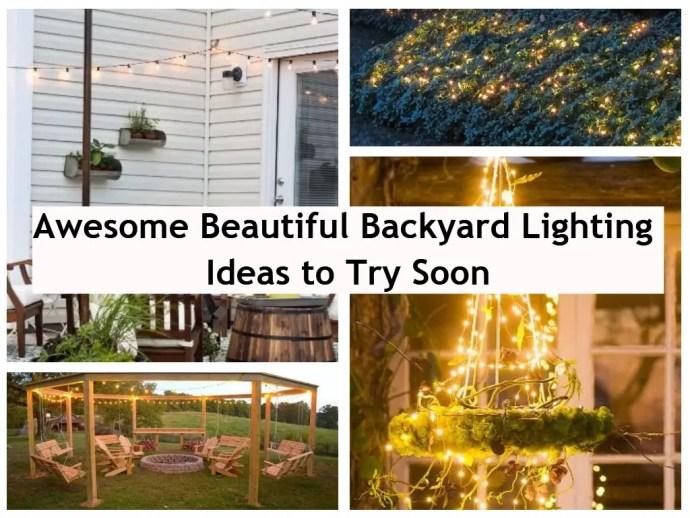 Awesome beautiful backyard lighting ideas to try soon