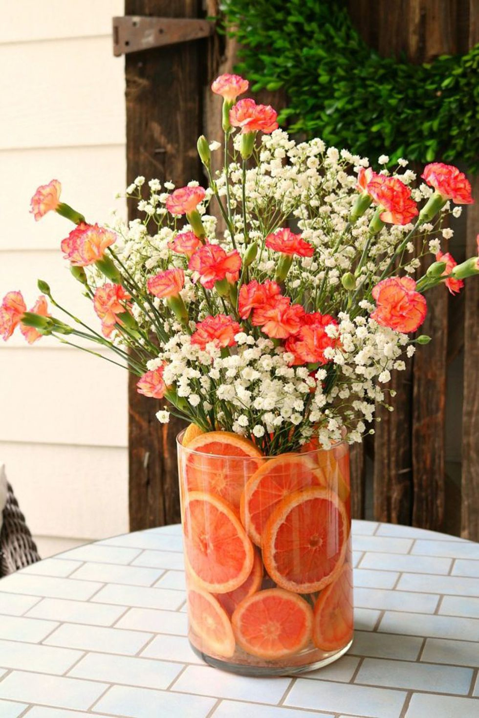 Citrus lined vase