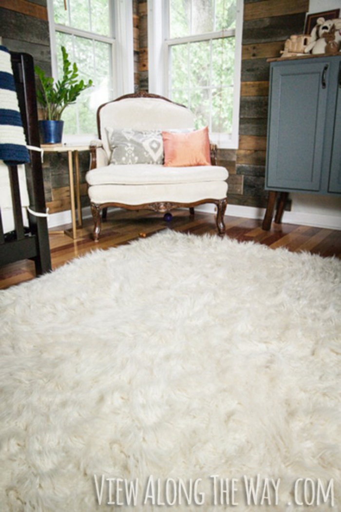 Diy faux fur rug