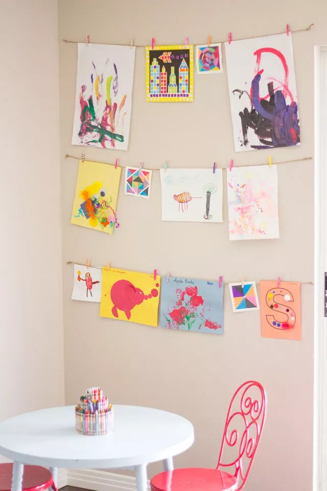 Diy kid's art display