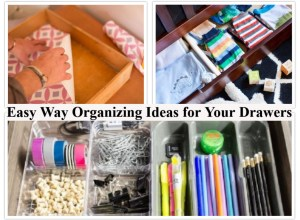 Easy way organizing ideas for your drawers