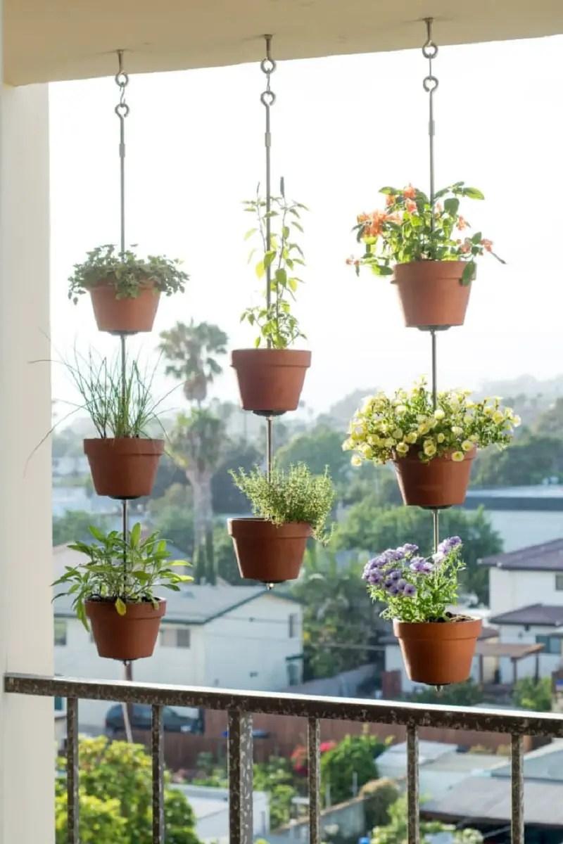 Hang up pots of herbs