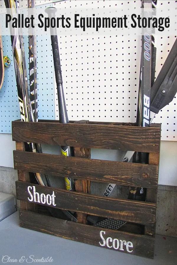 Pallet-sports-equipment-storage