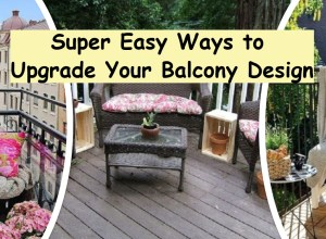 Super easy ways to upgrade your balcony design