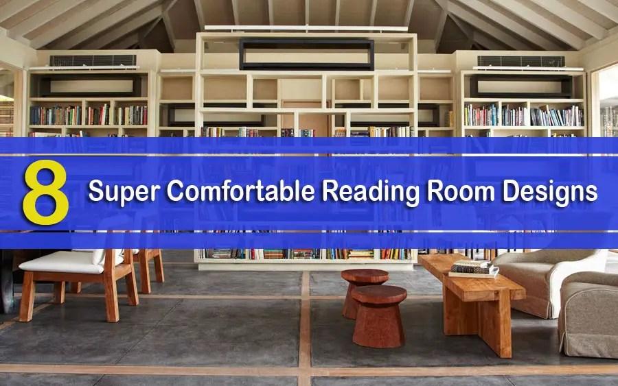 8 Super Comfortable Reading Room Designs