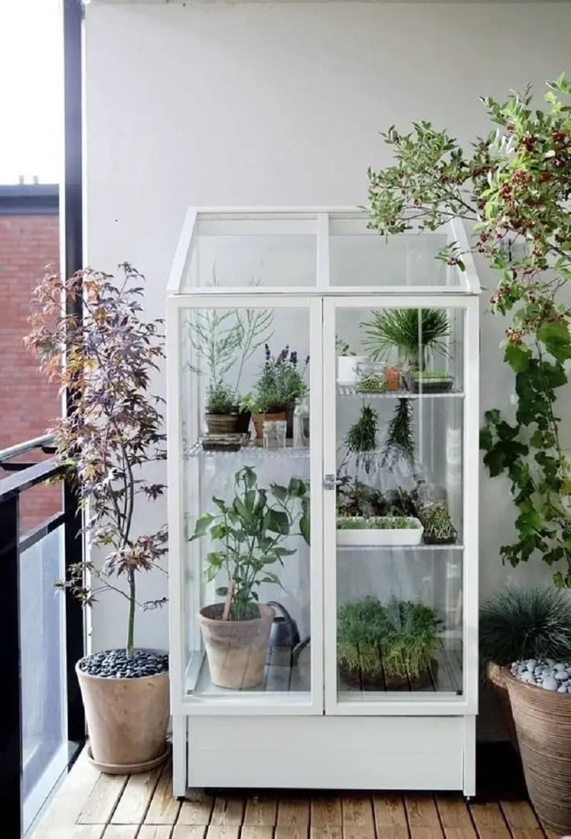 Pretty porch-sized greenhouse