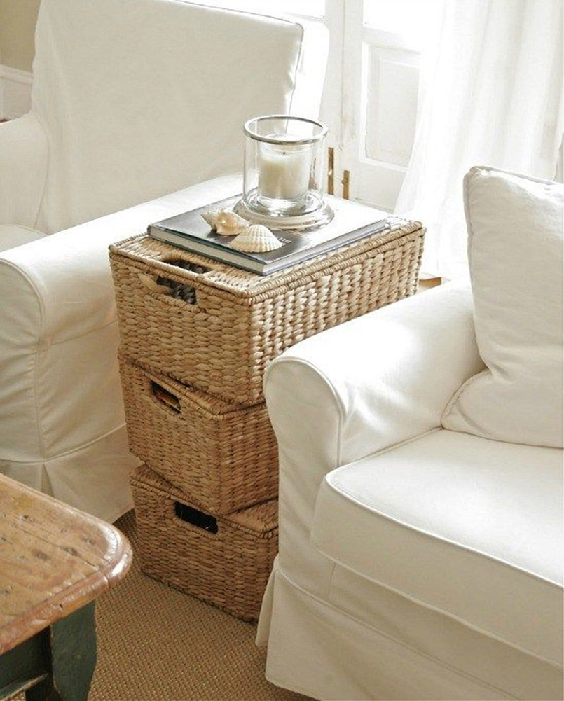 Creative Decorating Ideas Using Wicker Baskets ~ Matchness.com