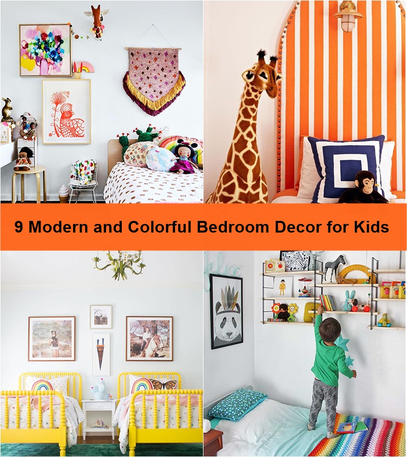 9 modern and colorful bedroom decor for kids