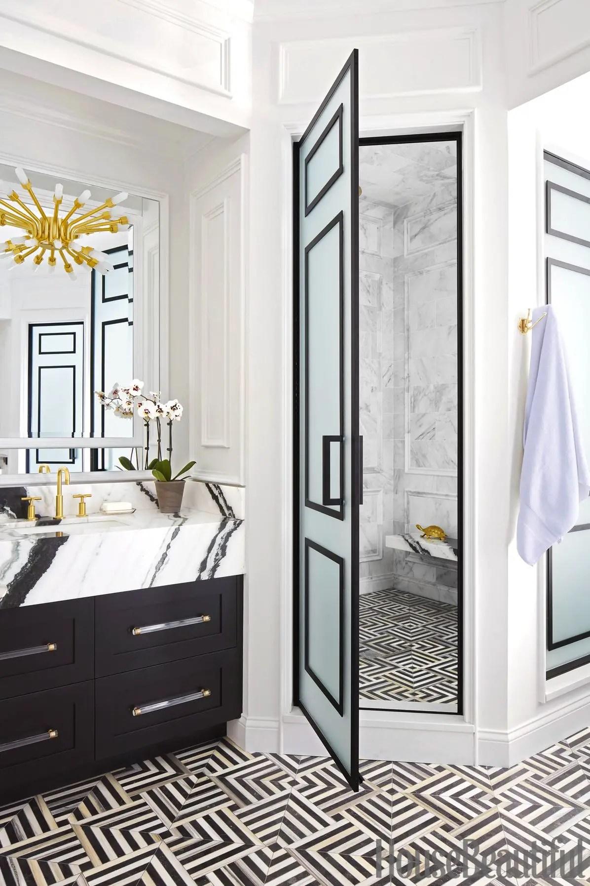 Geometric bathroom