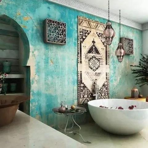 Moroccan styled bathroom