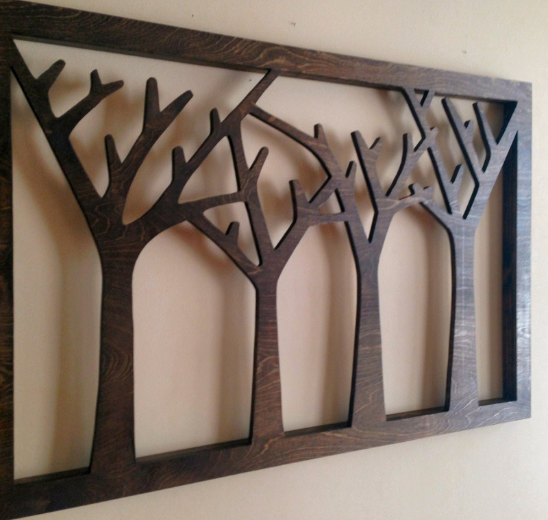 Stylish wood wall art decor