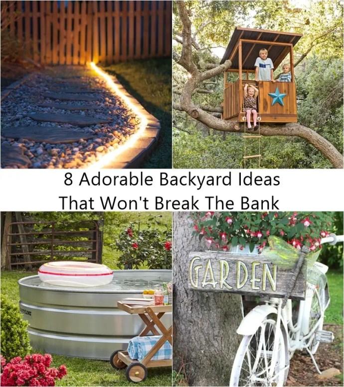 8 adorable backyard ideas that won't break the bank