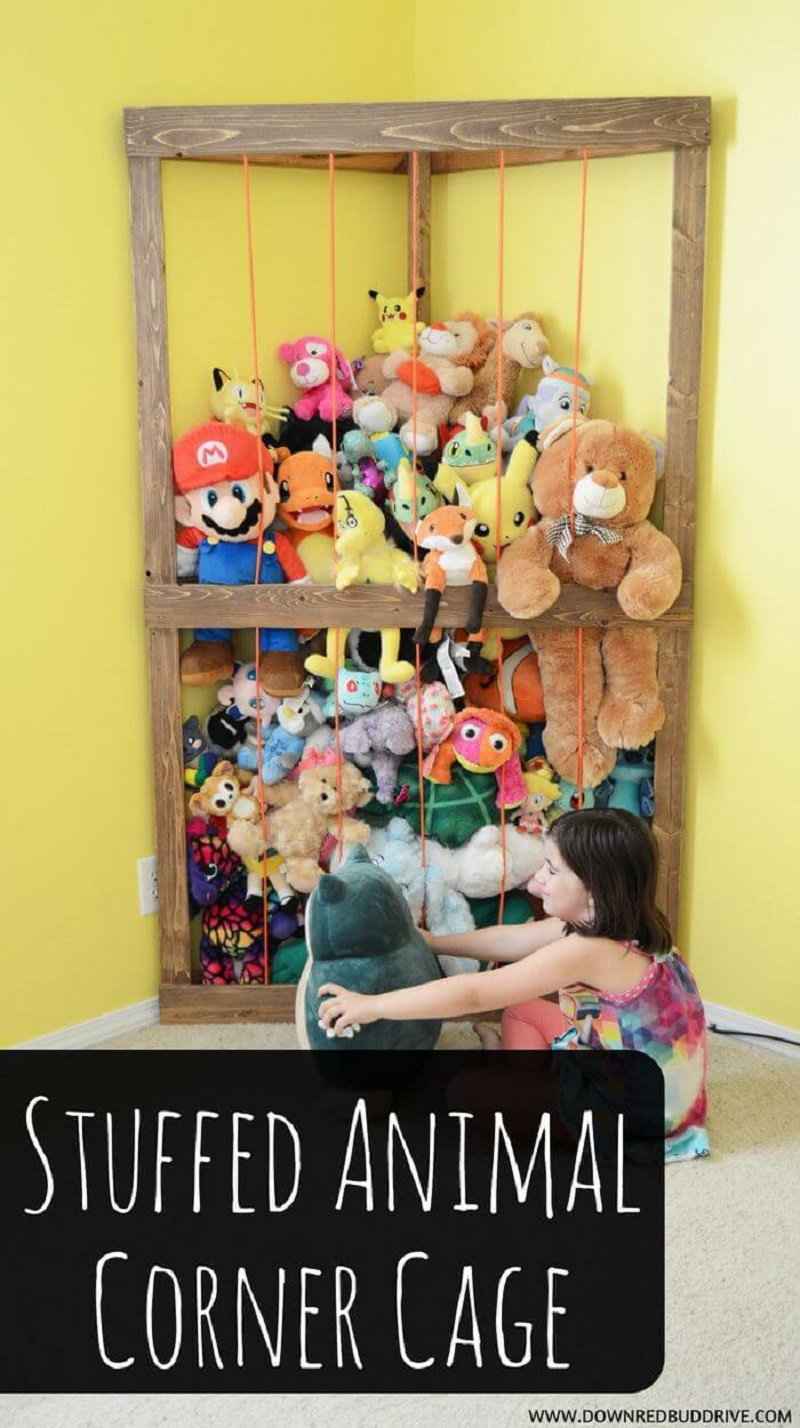 Build a cage for stuffed animals