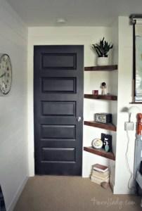 Build a shelf by the door