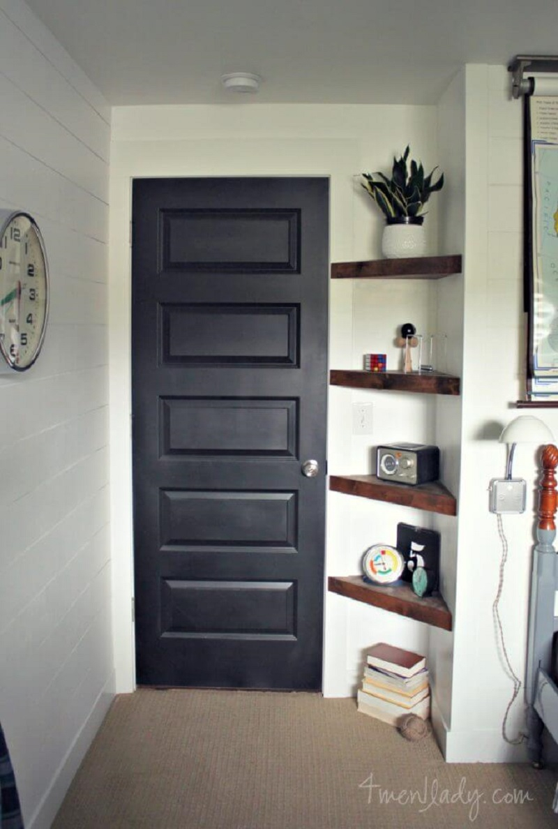 Build a shelf by the door