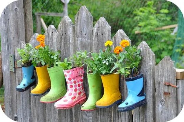 Rain boots gardening