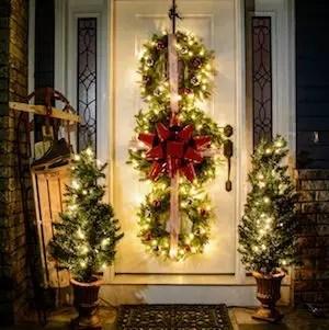 Adorable christmas porch décoration ideas 15