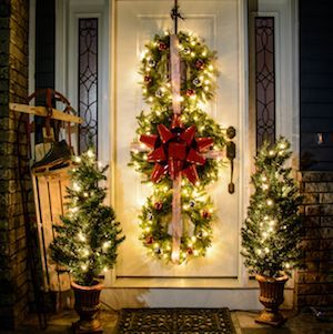 Adorable christmas porch décoration ideas 15