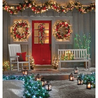 Adorable christmas porch décoration ideas 24