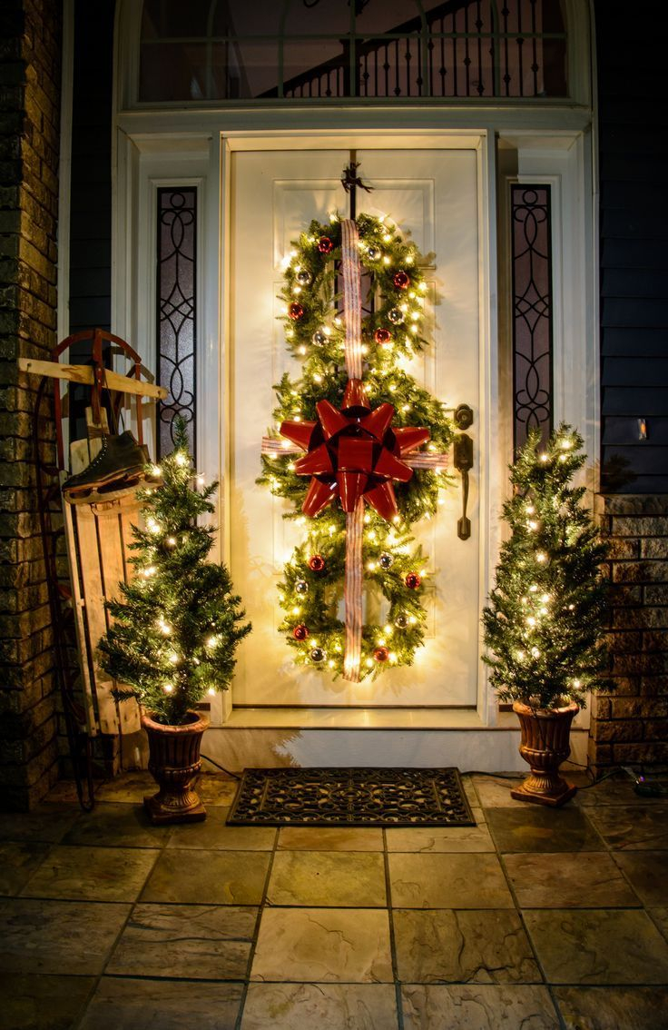 Adorable christmas porch décoration ideas 36