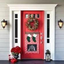 Adorable christmas porch décoration ideas 42