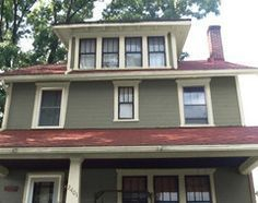 Exterior paint colors for house with brown roof 04