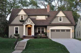 Exterior paint colors for house with brown roof 16