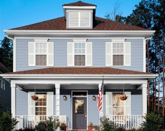 Exterior paint colors for house with brown roof 25