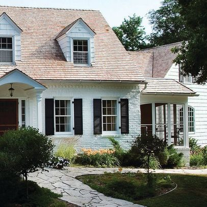 Exterior paint colors for house with brown roof 41