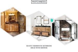 116 Rustic and Farmhouse Bathroom Ideas with Shower
