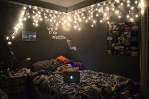 Awesome string light ideas for bedroom 45