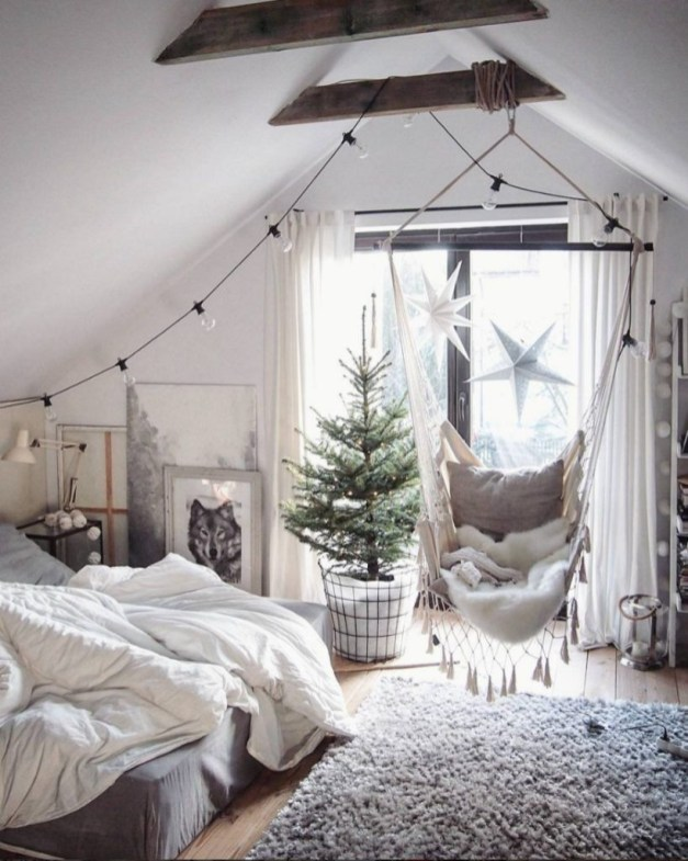 Awesome string light ideas for bedroom 46