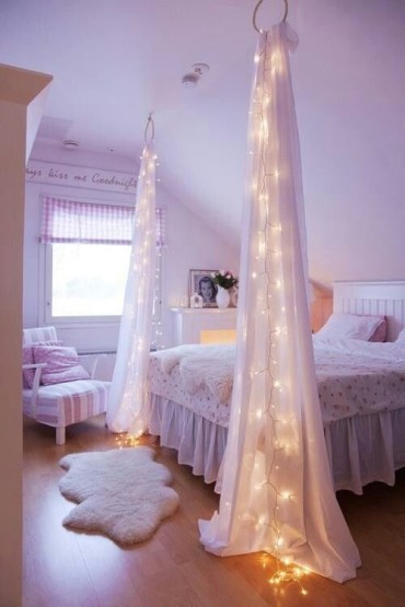 Awesome string light ideas for bedroom 51