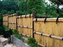 Bamboo fence ideas for small houses 09