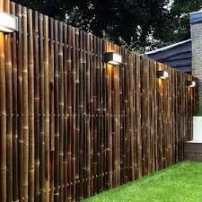Bamboo fence ideas for small houses 14