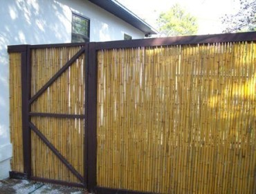 Bamboo fence ideas for small houses 44