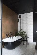Elegant bathroom design with black walls 04