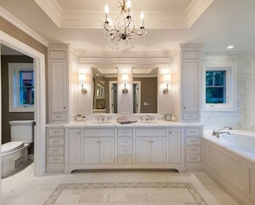 Luxury traditional bathroom design ideas for your classy room 08